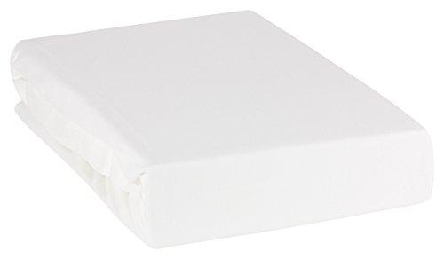 """MOON """"Line Silver Wasserbett Spannbettlaken XXL 200x220-220x240 190g/m² Spannbetttuch -weiß"""