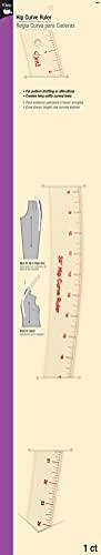 Dritz - Regla Curva de Sastre, Regla Curva para Zona de Caderas, 24 Pulgadas de Largo (Sistema métrico Imperial)