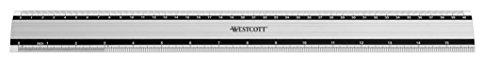 Westcott E-10192 00 - Regla de aluminio, 40 cm