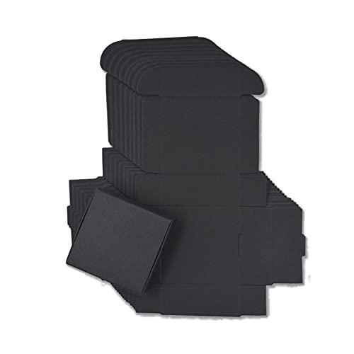 XIZHOUCUN 100 en Blanco Kraft Papel Hecho a Mano jabón Caja de cartón Blanco Caja de joyería Boda Fiesta Hola Caja de Regalo de artesanía Negro Caja de Regalo