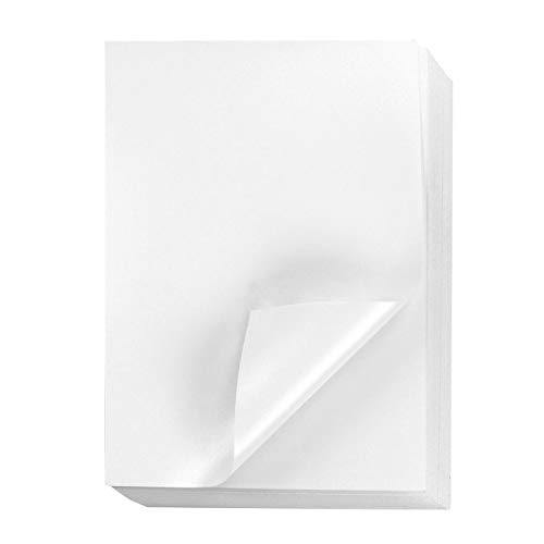 Metallic Shimmer Paper Sheets for Crafting (8.5 x 11 In, White, 96-Pack)
