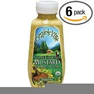 Organicville Stone Ground Mustard, 12-Ounce (Pack of 6)