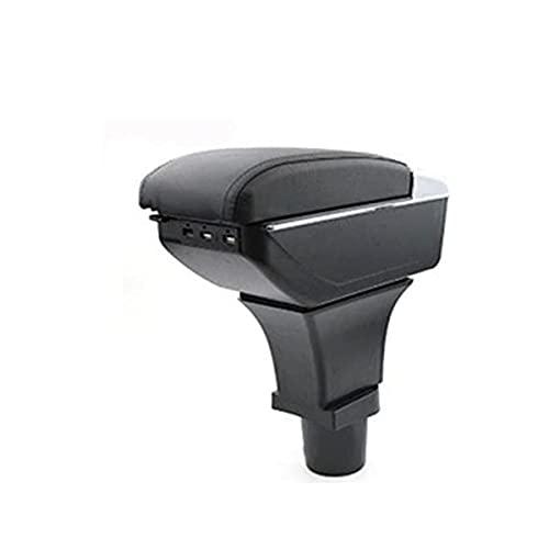 JJZRB PU Cuir Voiture Accoudoirs Boîte, pour Fiat 500 USB Cup Holder Console Centrale Etanche Durable Protection Rangement Armrest Box, Car Interior Styling Accessories