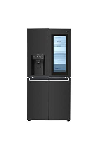 LG GMX844MCKV Frigorifero Americano Multidoor Total No Frost con Congelatore 508 L, Tecnologia InstaView, Dispenser Acqua e Ghiaccio, Door Cooling, Linear Cooling - Frigo Smart con Wi-Fi e Display LED