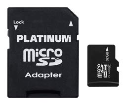 Platinum High Speed microSDHC Karte 32GB Class 10 UHS-I U1 Speicherkarte inkl. SD Adapter - Micro SD Karte für Smartphone, Tablet, Kamera 177332