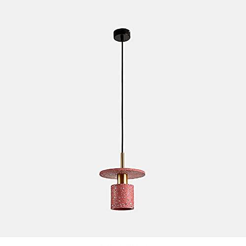 ORNAAA Ladrillo Rojo Droplight Candelabro De Terrazo Lámpara Colgante Moderna Lámpara Colgante Simple Lámpara De Techo Creativa Restaurante Iluminación De Techo Arte Lámpara Colgante Creativa Lámpara