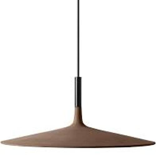 Lámpara Colgante 11,7W, de Cemento, Aluminio y policarbonato, Modelo Aplomb Large, 45 x 45 x 20 centímetros, Color marrón (Referencia: 195017 52)