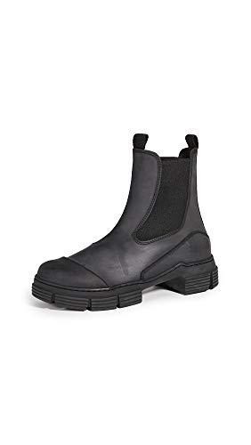 Ganni Women's Recycled Rubber Boots, Black, 8 Medium US