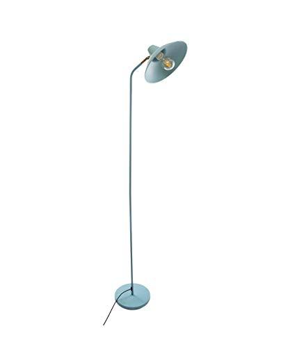 Lámpara de pie de metal verde