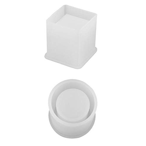 joyMerit Molde Cuadrado de Resina de 2 Piezas, Moldes de Silicona, Moldes de Resina para Hacer Manualidades, 2 Tamaños