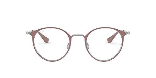 Ray-Ban 0RX6378, Monturas de Gafas Unisex Adulto, Multicolor (Gunmetal/Turtledove), 47
