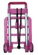 折り畳みミニキャリー(ピンク) PT001 ハンドキャリー 台車 キャリーカート ショッピングカート レジャー アウトドア