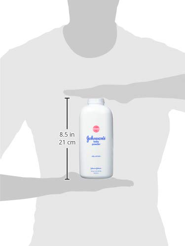 Johnson's Baby Powder for Delicate Skin, Hypoallergenic and Free of Parabens, Phthalates, and Dyes for Baby Skin Care, 22 oz (Pack of 3)