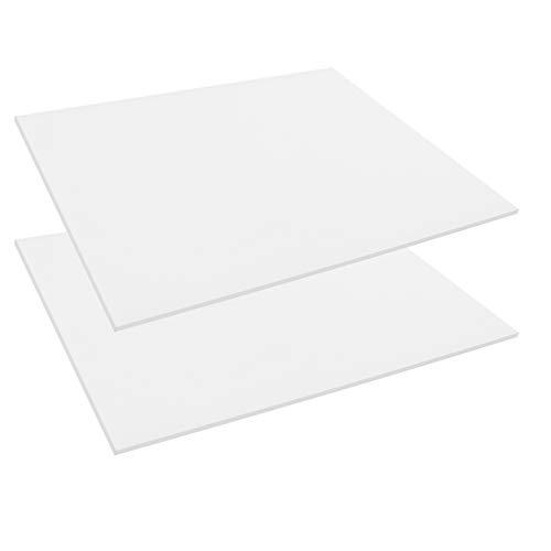 Dadabig 2 Stück Hitzebeständige Silikonmatte 100% Rutschfeste Transparente Silikonplatten 3mm Isolierung Silikonkissen für Werkbank Stumpfschweißen Lötkissen Lötmatte Auflage (18 * 23 * 0.3cm)