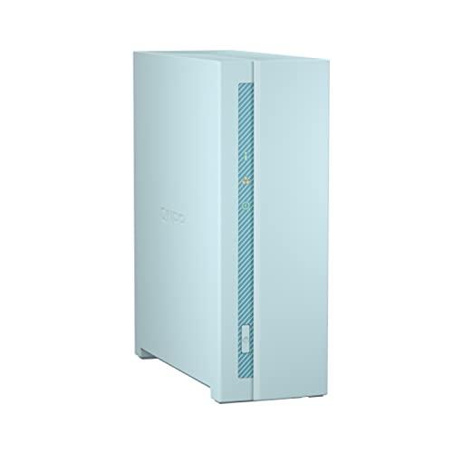 QNAP TS-130 1 Bay - Netzwerkspeicher Gehäuse - Budgetfreundliches Home NAS für Dateispeicherung und Multimedia-Streaming