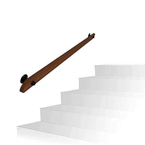 Pasadoras de la escalera Pasadora de pasamanos Kit de madera Escaleras Pasamanos Panister Barandrail Banister Barandilla Barandillas de la escalera con soportes de metal for la escalera 30 ~600 cm (Ta
