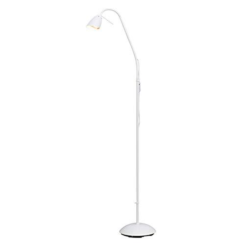 VVAN LED White Reading Floor Lamp for Living Room, Bedroom, Tall Lamps for Living Room, Office And Study Room Stand Up Floor Lamp Floor Lamp (Color : White)