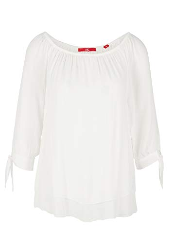 s.Oliver Damen 120.10.004.10.100.2036769 Bluse, Cream, 46