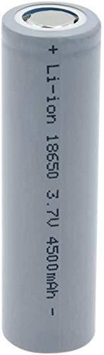Batería 18650 3.7V 4500mAh Batería de Alta Linterna Recargable de Alta Alta 1pcs