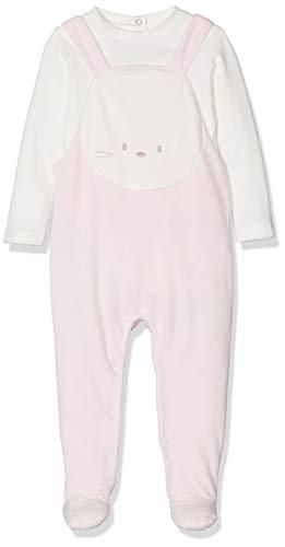 Chicco Completo Body Lunghe con Tutina Senza Maniche Pelele, Rosa (Rosa Chiaro 011), 74 (Talla del Fabricante: 074) para Bebés