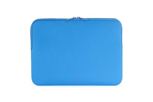 Tucano BFS1314-B Second Skin Segno Neopren-Hülle für Notebooks 13 Zoll bis 14 Zoll, MacBook Surface Netbook Blau