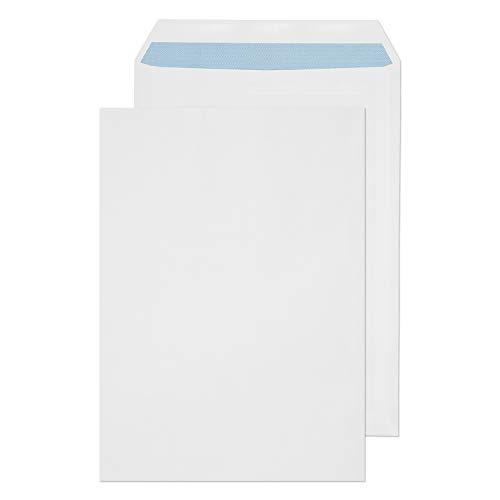 Purely Everyday - Buste formato C4, chiusura adesiva, 324 x 229 mm, confezione da 25 pezzi, colore: bianco