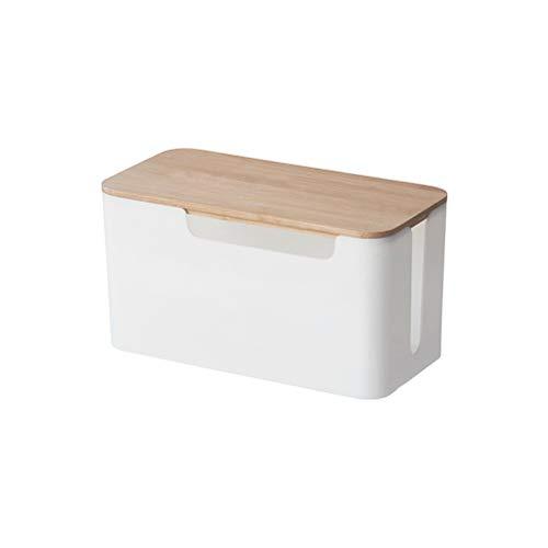 Tixiyu Kabel-Management-Box, Draht-Organizer, Abdeckung für Schreibtisch, Zuhause, Büro, Küche, Steckdosenleiste, Aufbewahrungsbox, 23,5 x 12 x 12,5 cm, Weiß