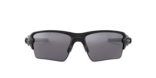 Oakley Men's OO9188 Flak 2.0 XL Rectangular Sunglasses, Polished Black/Prizm Black Polarized, 59 mm