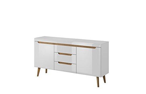 Muebles de salon Estilo nordico Oslo - salon - Comedor - Vitrina - aparador - Mesa de Centro (Aparador Oslo)
