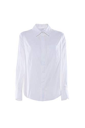 Nenette Milano FEDRA Popeline Langarm Hemd, Weiß 38