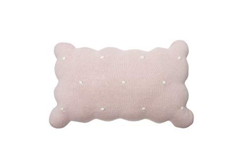Lorena Canals - Cojín de Punto Biscuit Pink - Perla Rosa, Marfil - Cubierta: 100% algodón/Relleno: 100% poliéster - 25x35 cm
