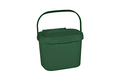 Fantastic Deal! Addis 518250 Everyday Kitchen Food Waste Compost Caddy Bin, 4.5 Litre, Dark Green