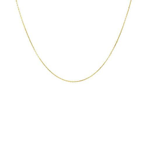Collar, Cadena, esclava, brillante, de oro amarillo auténtico, para mujer o niños