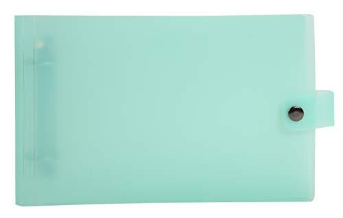 Exacompta - Réf. 52170E - Classeur semi-rigide PP Chromaline Pastel - 2 anneaux ronds diam.30 mm - Dimensions extérieures : 26,5x16cm - Formats à classer 12,50x20cm et 14,8x21cm- 5 coloris assortis