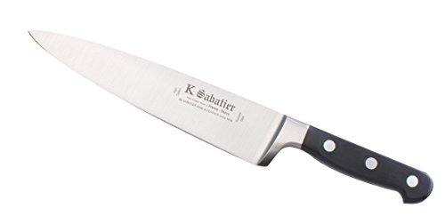 K SABATIER - Cuisine 20 Cm Gamme Bellevue - Acier Inoxydable - Manche Noir - 100% Forge - Entièrement Fabrique en France