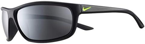Nike EV1109 007 Rabid Sunglasses Matte Black Volt Frame Color Grey with Silver Mirror Lens Tint product image