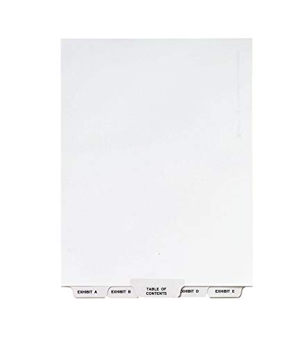 Avery Avery-Style Lgl Bottom Tab Dividers, 27-Tab, Exhibit A-Z, Letter Size (8.5 x 11), White, 27 per Set (11376)