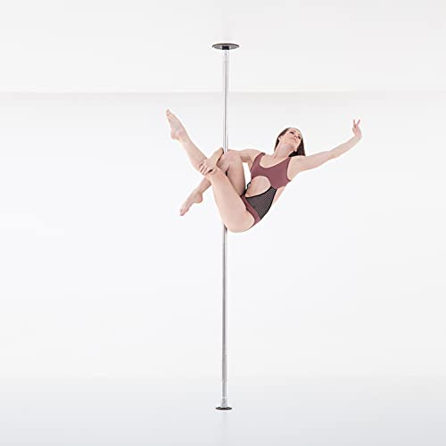 LUPIT POLE Professional Stripper Pole for Home G2 Swarovski Diamond Chrome Dance Pole - 45mm (1.77in) – Spinning and Static Mode - Portable and Removable Fitness Dancing Pole