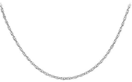 Carissima Gold Damen Hollow 1.7mm Diamantschliff Prinz von Wales Halskette 9k (375) Weißgold 46 cm/18 zoll 5.19.4314