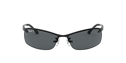 Ray-Ban Unisex Sonnenbrille Top Bar Gestell: schwarz, Gläserfarbe: grau verlauf 002/81), Large (Herstellergröße: 63)
