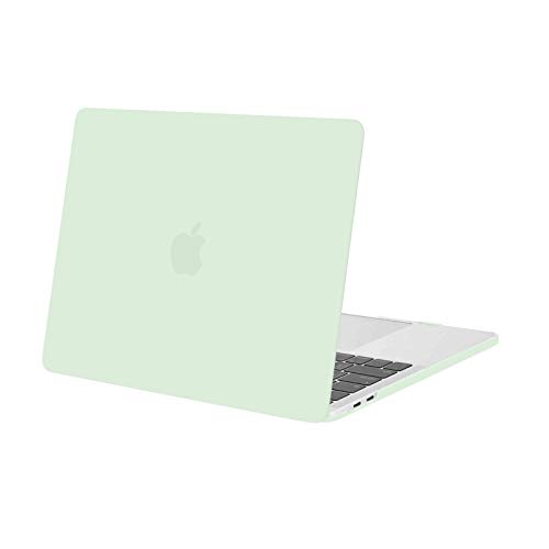 MOSISO Funda Dura Compatible con MacBook Pro 13 Pulgadas 2020-2016 A2338 M1 A2289 A2251 A2159 A1989 A1706 A1708, Ultra Delgado Carcasa Rígida Protector de Plástico Cubierta, Verde Honeydew