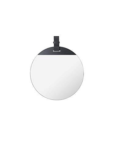 Ferm Living - Espejo de Piel (45 x 52 cm), diseño de Pato, Color Negro