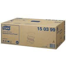 Tork 150399 Tork Xpress® Universal Asciugamani piegati a Z, 2 veli, bianchi, compatibili con sistema H2, cm 21,3 x 8 x 21,3 asciugamani (20x190)