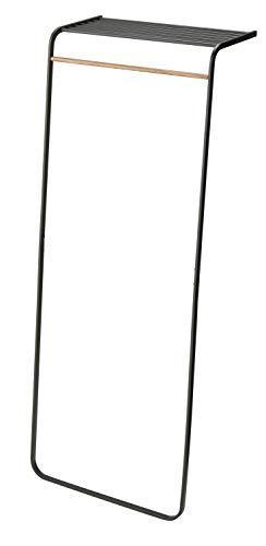 Yamazaki Home Leaning Shelf Coat Hanger, One Size, Black