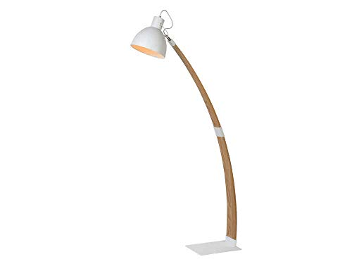 Lucide CURF - Stehlampe Mit Leselampe - 1xE27 - Weiß