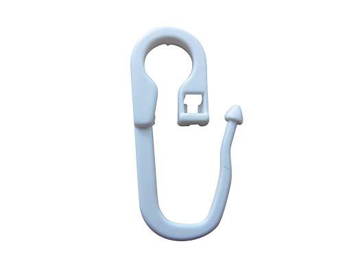 rewagi - Überklipshaken geschlossen mit 7mm Öse - Farbe: weiß, transparent - Kategorie: Zubehör für Vorhänge Material: Kunststoff Verkaufseinheit: 25, 50, 100, 200,500 1000 Stück (Weiss, 50 Stück)