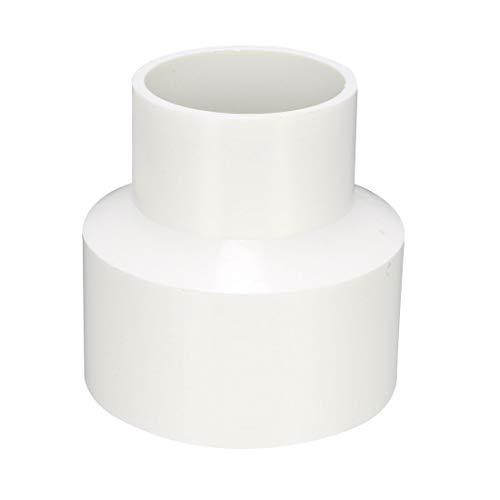 sourcing map - Cubo de acoplamiento reductor de PVC (75 mm x 50 mm)