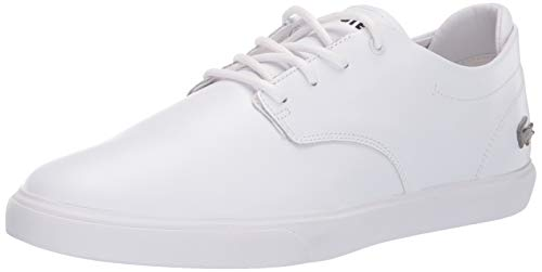 Lacoste Mens Esparre Sneaker, White/White, 11 Medium US