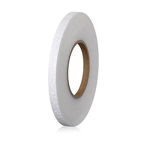 LUTER 1cmx64m Cinta de Fusión de Tela para Planchar Cinta Adhesiva para Planchar para Dobladillo para Doblar Ropa Rota Jeans Tela