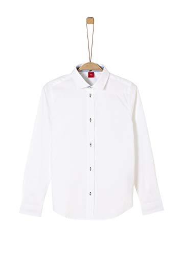 s.Oliver Junior Jungen 402.12.002.11.120.1279013 Hemd, Weiß (White), XL/Slim